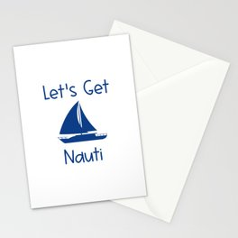 Let's Get Nauti Lake and Ocean Travel Stationery Cards