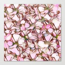 pink abstract daisies Canvas Print