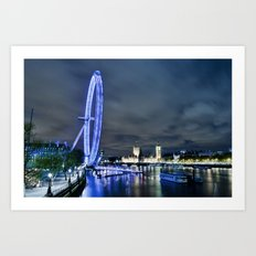 London Eye Big River Art Print