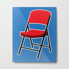 Folding Chair Metal Print
