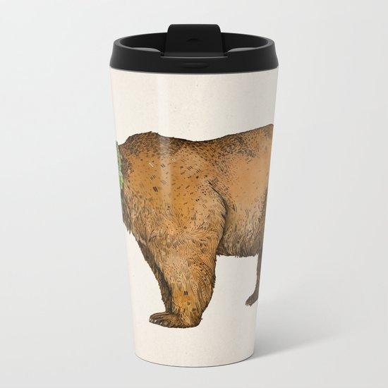 BROWN BEAR Metal Travel Mug