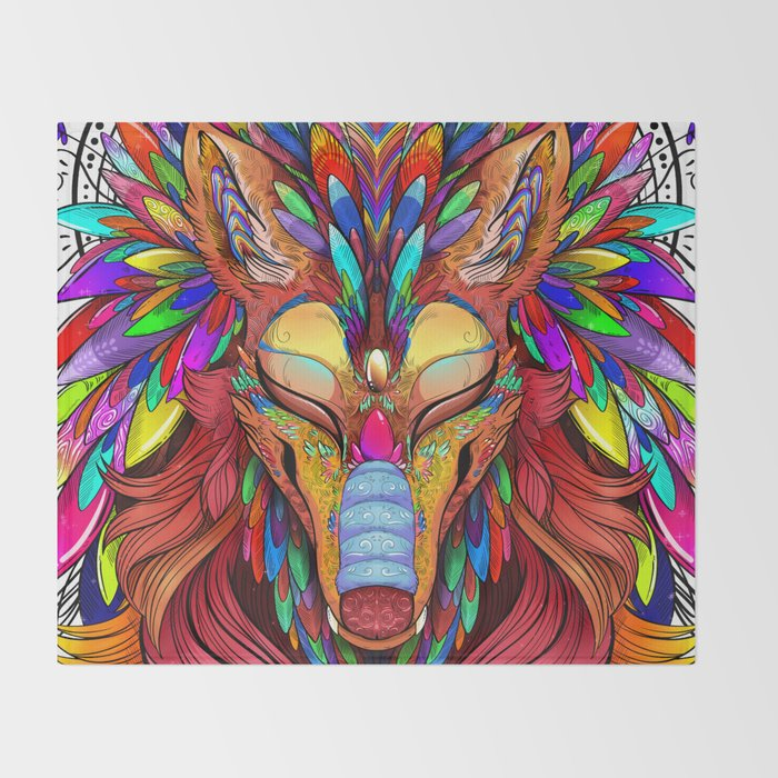 The Joy Of Living Colors Throw Blanket By Dragonfoxgirl Society40 Simple Colorful Throw Blankets