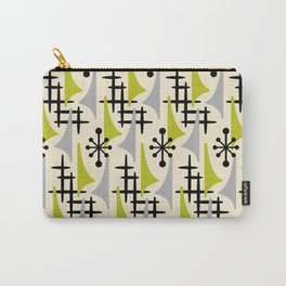Mid Century Modern Atomic Wing Composition Green & Grey Carry-All Pouch