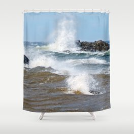 Surf's Spray Shower Curtain