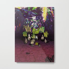 Eggplant Clan Metal Print