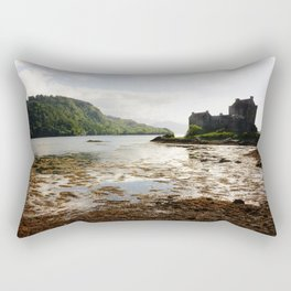 Beautiful scenery in the Eilean Donan Castle, Scotland - Fine Arts Travel Photography Rectangular Pillow