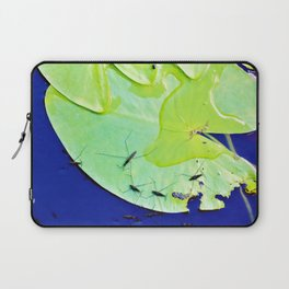 Water striders on lily pad Laptop Sleeve