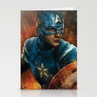 avenger Stationery Cards featuring The First Avenger by SachsIllustration