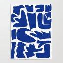 Blue shapes on white background by jsebouvi