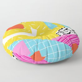 Homefry - abstract pattern memphis retro throwback 80s neon vibes trendy art decor Floor Pillow