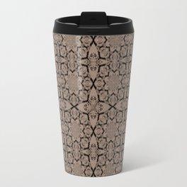 Warm Taupe Geometric Travel Mug