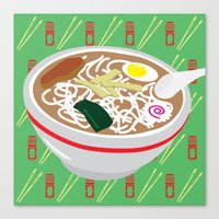 ramen Canvas Prints featuring Ramen by Charlton Yu