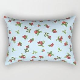 Cranberries blue background Rectangular Pillow