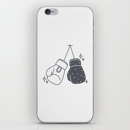 Boxing gloves night and day iPhone Skin