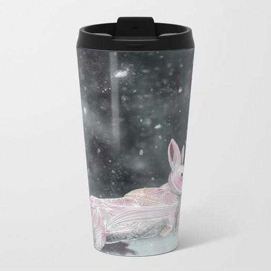 White Rabbit Metal Travel Mug