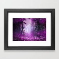 Fairy deer out of the woods Framed Art Print