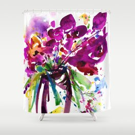 Floral Dance No.2 by Kathy Morton Stanion Shower Curtain