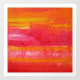 'Summer Day'  Orange Red Yellow Abstract Art Art Print
