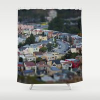 mini Shower Curtains featuring Mini SF! by Bizzack Photography