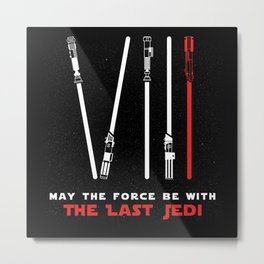 Episode XVIII - May the force be with the last Jedi Metal Print