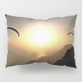 Paragliders Flying Without Wings Pillow Sham