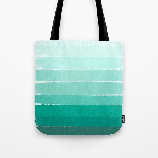 Ombre - Brushstroke Green/Blue Ocean Ombre, girly trend, dorm decor, cell phone, beach, summer,  Tote Bag
