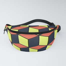 Yellow and Orange Cubes Fanny Pack
