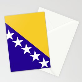 Bosnia and Herzegovina flag emblem Stationery Cards
