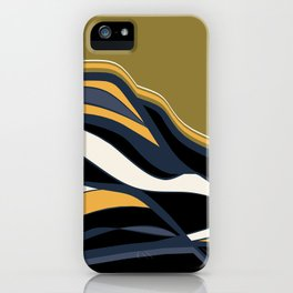 olive & navy & mustard  / minimalist iPhone Case