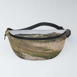 Seascape against sky in Brittany Fanny Pack