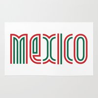 mexico Area & Throw Rugs featuring Mexico! by nikitaprokhorov