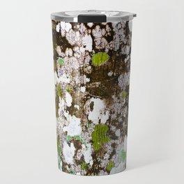 437 - Abstract Lichen Design Travel Mug