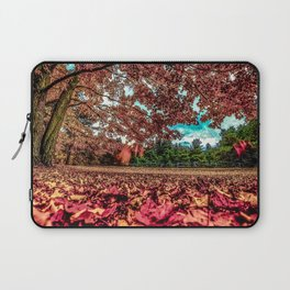 Autumn fall leaves nature forest tranquil peaceful art home decor serene landscape photography outdoors graden woods Laptop Sleeve