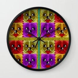 Peace Dogs Wall Clock