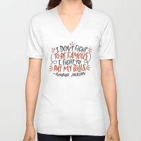 percy jackson V-neck T-shirts featuring Rampage Jackson by Josh LaFayette
