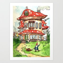 Gnome Home Art Print