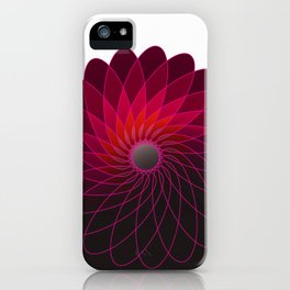 red shining gyro iPhone Case