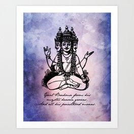 John Keats - Endymion - Brahma Art Print