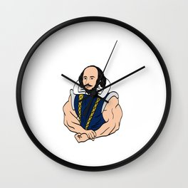 "A Fitness Tee For The Fitted You Or Gym Goer Saying ""Dost Thou Even Hoist Sir?"" T-shirt Design Wall Clock"