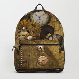 Cute little steampunk horse, funny cartoon Backpack