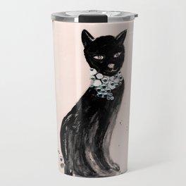 Spoiled Kitty Lifestyle Illustration Travel Mug