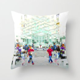 instead of shuffling plates, over leftover scraps. Throw Pillow