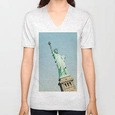 Statue of Liberty Unisex V-Neck
