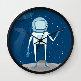 on the moon Wall Clock