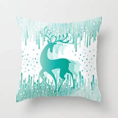 Dancing Deer Throw Pillow