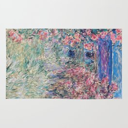 The House among the Roses by Claude Monet Rug
