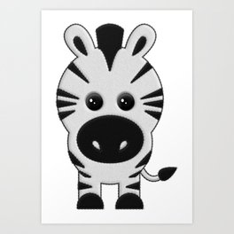 Cebra de Peluche Art Print