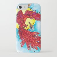 phoenix iPhone & iPod Cases featuring Phoenix by missfortunetattoo