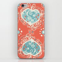 nordic iPhone & iPod Skins featuring Nordic Heart by Sarah Doherty