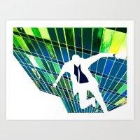 Radial Refringence Art Print